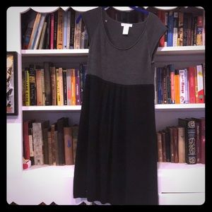 London Times Dresses - Knit Black and Grey Dress